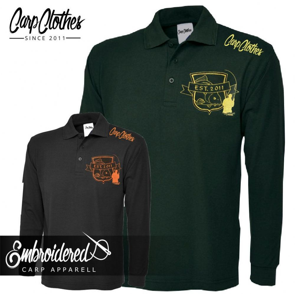 029 EMBROIDERED CARP LS POLO